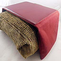 Arm Chair Mouse Pad - 8 Inch All Burgundy