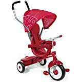 Radio Flyer 4 In 1 Tricycle, Kids Tricycle, Red
