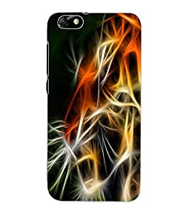 ColourCraft Tiger Look Design Back Case Cover for HUAWEI HONOR 4X