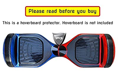 3D Black Carbon Fiber Vinyl Smart Balancing Electric Scooter BODY PROTECTOR Decorative Protection Hoverboard Skin Cover Case By IPG