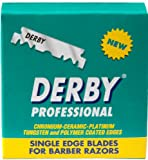 100 Derby Professional Single Edge Razor Blades for Straight Razors (Pack of 100 Blades).