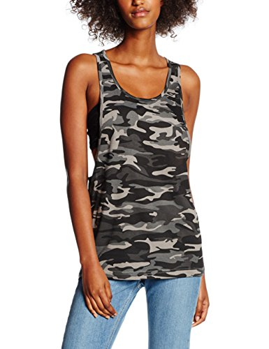 Urban Classics Ladies Loose, Tank Top Donna, Mehrfarbig (Urban Camo 378), S