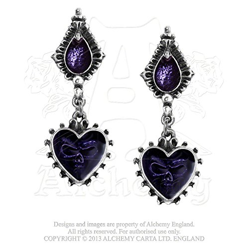 Sinister Mirror of the Soul Purple Gemstone Earrings by Alchemy Gothic (Soul Gem Purple compare prices)