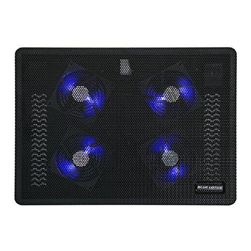 (ブルーロータス)BLUE LOTUS ノートPC用 薄型 クーラー クーリングパット 冷え冷えクーラー 9~15インチ対応 4ユニット搭載 静音ファン BL-250