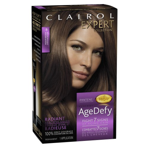 Clairol Age Defy Expert Collection 5 Medium Brown 1 Kit, 1.000-Kit