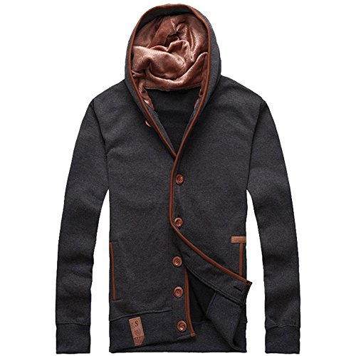 Glestore Mens Hooded Sweatshirt Hoodie Grey XL
