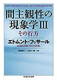 間主観性の現象学IIIその行方 (ちくま学芸文庫)