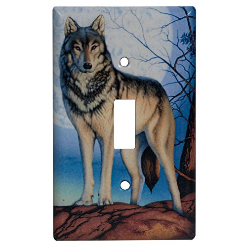 Timber Wolf Single Switch Cover front-653110