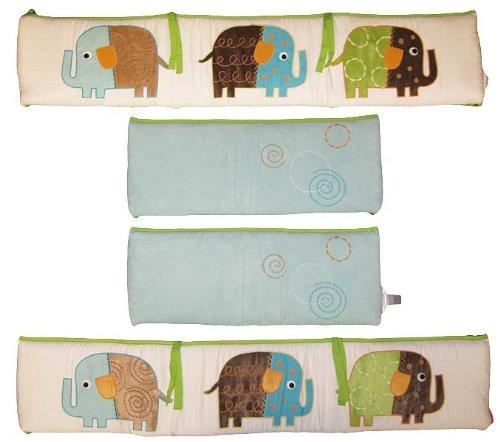 Zutano 4 Piece All Around Bumper Set, Elephant