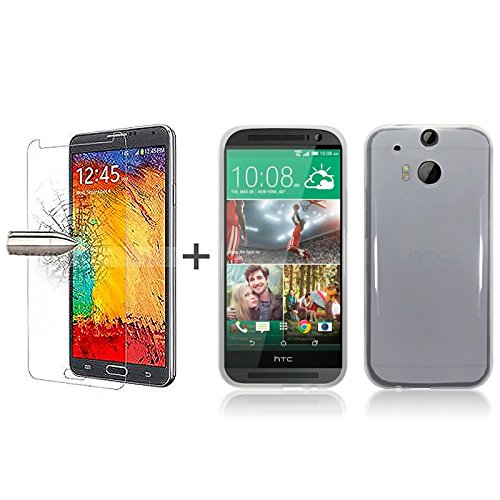 tbocr-pack-clear-tpu-silicone-gel-case-tempered-glass-screen-protector-for-htc-m8-soft-jelly-rubber-