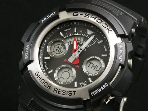 Casio CASIO G shock g-shock an analog-digital watch AW 590 - 1A parallel imported goods