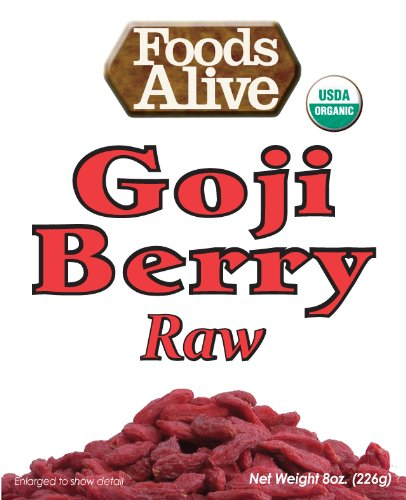 Foods Alive Organic Goji Berries, 8 oz  Bags