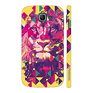 Enthopia Designer Hardshell Case Lion Art Yellow Back Cover for Samsung Galaxy J1 Mini