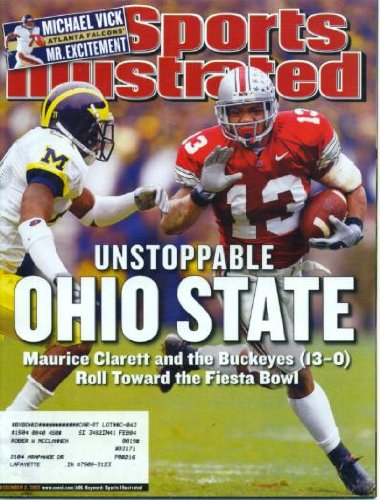 Sports Illustrated December 2, 2002 Maurice Clarett/Ohio State Buckeyes, Michael Vick/Atlanta Falcons - Mr. Excitement, Annika Sorenstam, Indiana High School Basketball, Dirk Nowitzki/Dallas Mavericks at Amazon.com