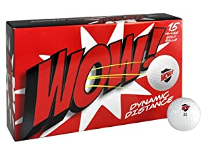 Knight WOW Dynamic Distance Golf Balls (Pack of 15), White