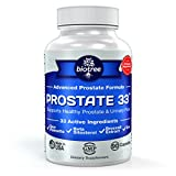 Prostate 33 - Advanced Prostate Formula supports Prostate Health & Urinary Function with Saw Palmetto, Beta Sitosterol, Broccoli Extract