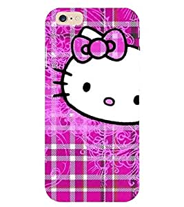 Evaluze KITTY Printed Back Cover for APPLE IPHONE 6