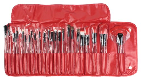 Umiwe(Tm) Professional Eye Lip Powder Face Cosmetic Makeup Brush Set (24Pcs,Wine Red) With Umiwe Accessory front-82767