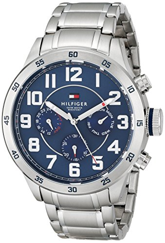 Tommy-Hilfiger-Mens-1791053-Stainless-Steel-Watch-with-Link-Bracelet