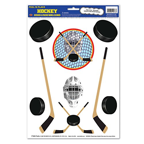 Hockey Peel 'N Place Party Accessory (1 count) (9/Sh)