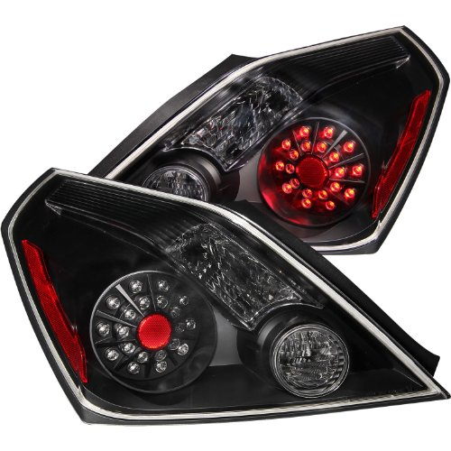 Anzo Usa 321194 Nissan Altima Black Led Tail Light Assembly - (Sold In Pairs)