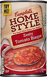 Campbell\'s Homestyle Soup, Zesty Tomato Bisque, 18.7 Ounce (Pack of 12)