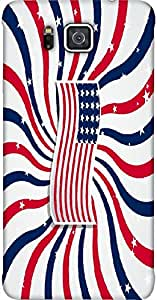 Timpax Light Weight Hard Back Case Cover Printed Design : A colourful flag.Exactly Design For : Samsung Galaxy ALPHA