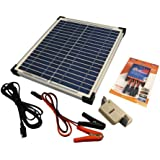 15W Solar Panel Battery Charger & Maintainer Kit, Includes Charge Controller & Fixing Kit for Car Caravan Motorhome or Boat