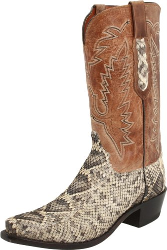 Lucchese Classics Men's N7983 Boot,Eastern Rattlesnake/Tan Mad Dog Goat,11 D US