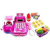 Fun Super Cash Register Pretend Play Battery Operated Toy Cash Register W/ Working Scanning Action, Real Calculator...