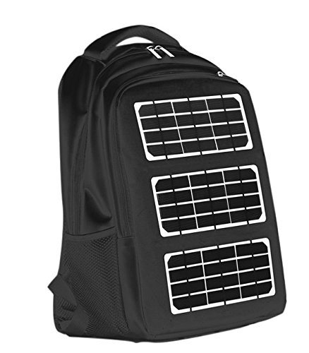 8 Watt Solar Backpack with 12000mah Power Bank – Cellphone & Device Charger for Iphone 6/5/4, Ipad, Ipod, Samsung Devices, Smart Phones, Tablet, Etc.