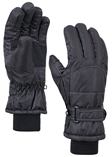 ANDORRA Women's Night Galaxy Thinsulate Waterproof Touchscreen Snow Gloves,S,Black (Insulated Touch Screen Gloves compare prices)