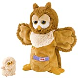 Trudi Hand Puppet Owl & Baby Plush Toy By Trudi