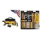 DEWALT DCK420D2 20V MAX Cordless Lithium-Ion 4-Tool Combo Kit 20V Combo Kit with DWA2T40IR IMPACT READY FlexTorq Screw Driving Set, 40-Piece
