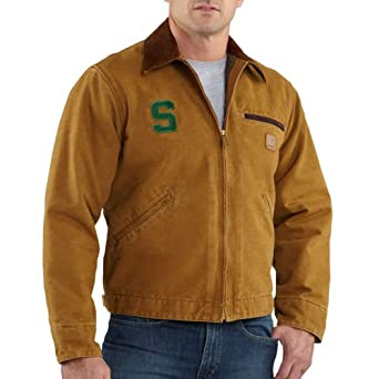 NCAA Michigan State Spartans Mens Sandstone Detroit Jacket by Carhartt