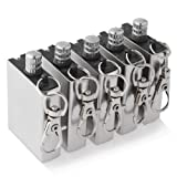 5 pcs Metal Matchbox Lighter Gas Oil Fire Starter with Keychain 1 package.