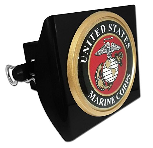 US Marine Corps Seal Trailer Hitch Cover with Pin Included (Officially Licensed) (Usmc Trailer Hitch Cover compare prices)