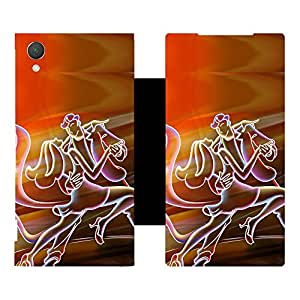 Phone Candy Designer Flip Cover with hi-res printed Vinyl sticker wrap-around for Sony Xperia Z2