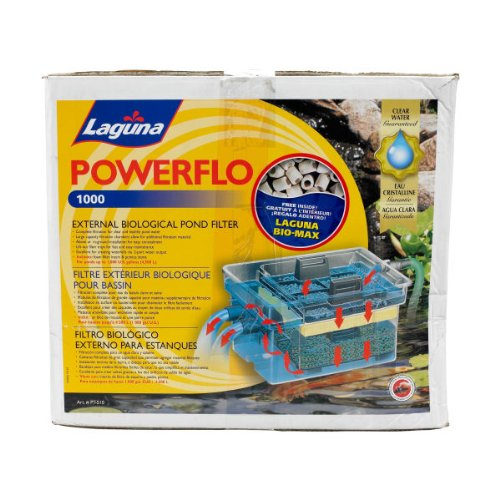 Laguna powerflo external biological pond filter 1000 for 100 gallon pond pump