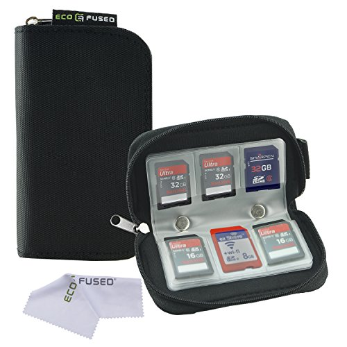 Fantastic Deal! Memory Card Carrying Case - Suitable for SDHC and SD Cards - 8 Pages and 22 Slots - ...