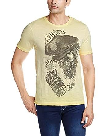 Ed Hardy Men's T-Shirt (8907259745176_EHTS0430_Large_Yellow)