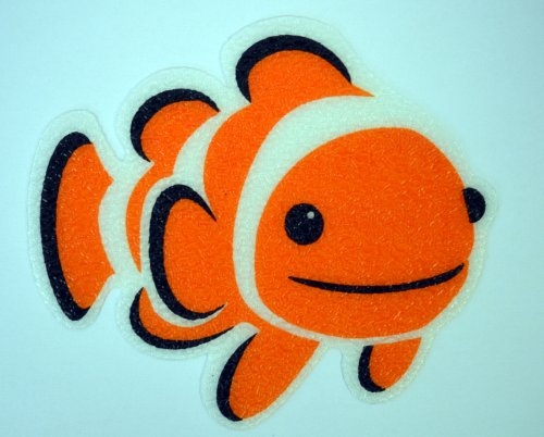 SlipDoctors 5 Piece Non-slip Bath Tub Clownfish Sticker Pack