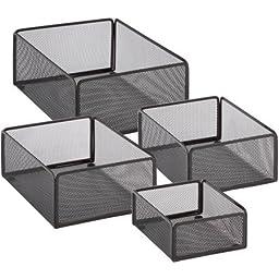 Honey-Can-Do Excessory Basket Set, Black