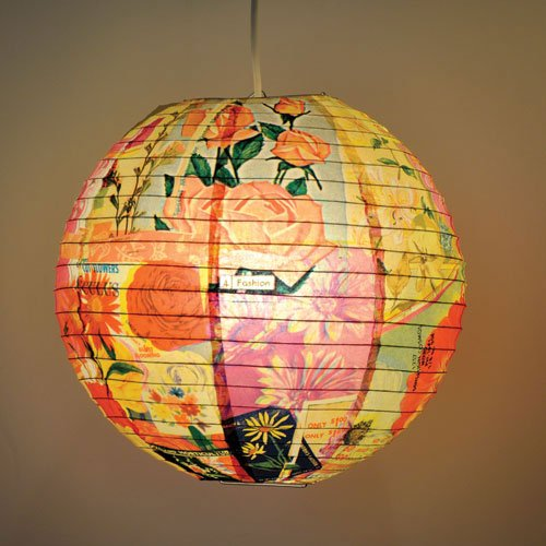 Hanging paper flowers hanging paper best flowers wallpapers for Recycled paper lantern