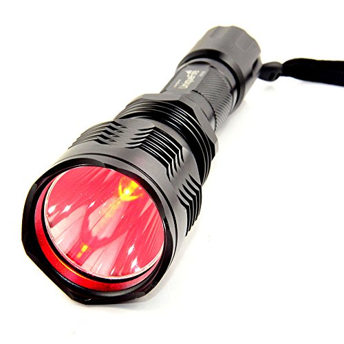Uniquefire Hs-802 Cree 1 Mode Long Range Red Light Hunting Led Flashlight