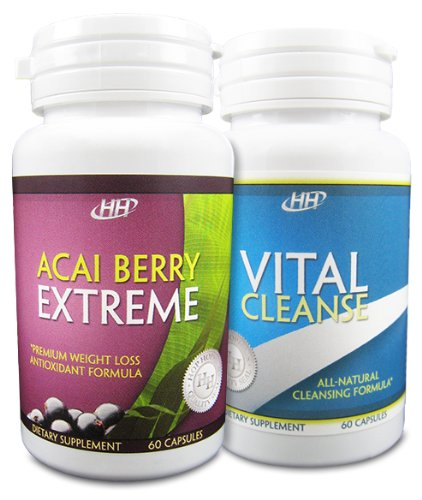 Acai Berry Extreme / Vital Cleanse Colon Cleanse Set - Powerful Weight Loss Diet Pill Combination Reviews