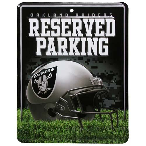 NFL Oakland Raiders Parking Sign