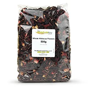 Hibiscus Flowers Whole Petals 500g