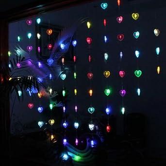 16m X 02m Heart Shaped Colorful Led String Lamp Light