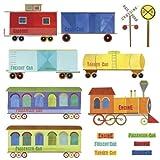 Wallies 13542 Peel and Stick Wall Art, Play Train Ride